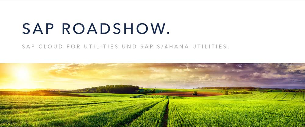 "SAVE THE DATE! ""Roadshow"" – SAP Cloud for Utilities und SAP S/4HANA Utilities"
